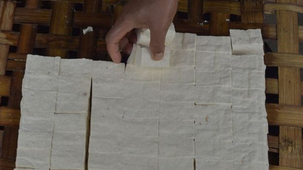 Tofu, espécie de queijo feito com batata e leite de soja
