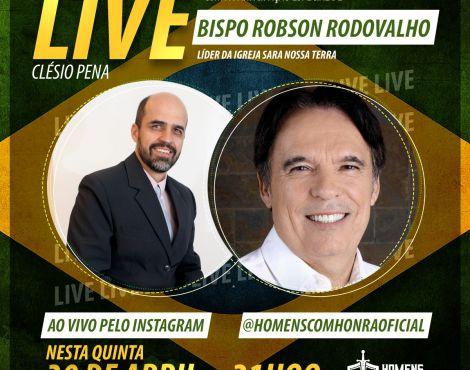 Participe da minha live com o Clésio Pena ao vivo pela Instagram