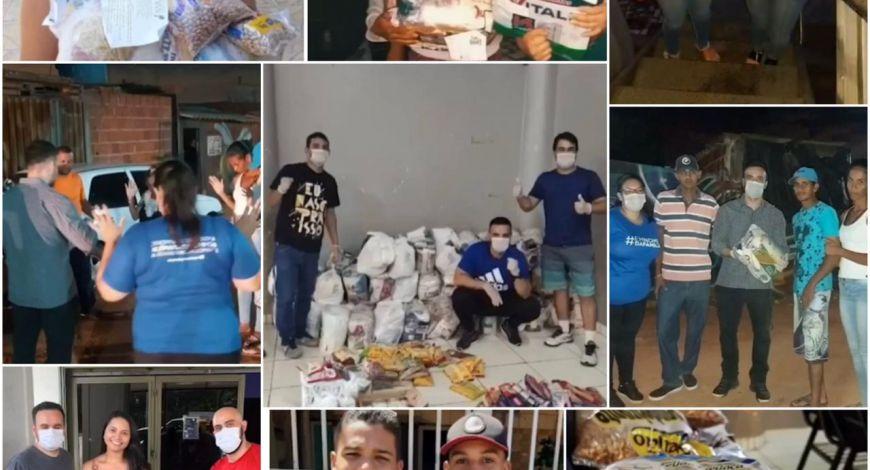 Membros da Sara Nossa Terra em Brasília distribuem mais de 23 toneladas de cestas básicas às famílias necessitadas